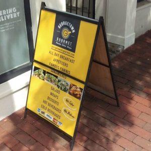 Sidewalk Signs 5b561269dd982 restaurant aframe menu storefront outdoor indoor custom vinyl mural collection 300x300