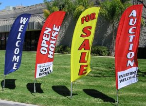 Temporary Signs banner flags outdoor 300x219