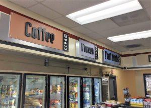 custom indoor retail signs